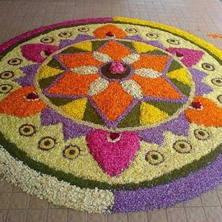 lovely flower rangoli design