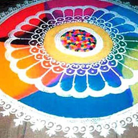 rangoli designs with flowers petals