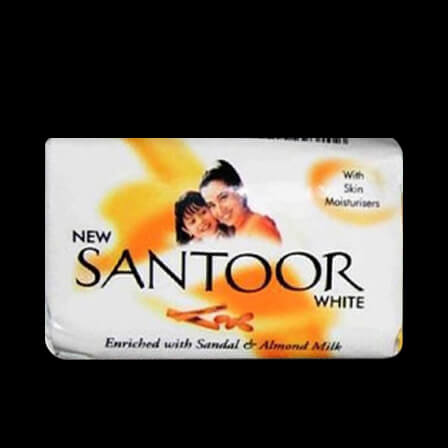 santoor white soap 55 gms