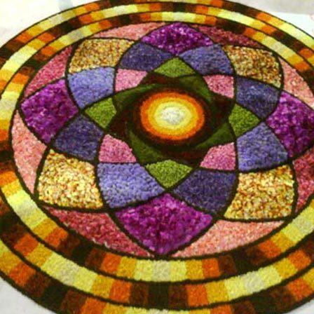 semi circle rangoli designs