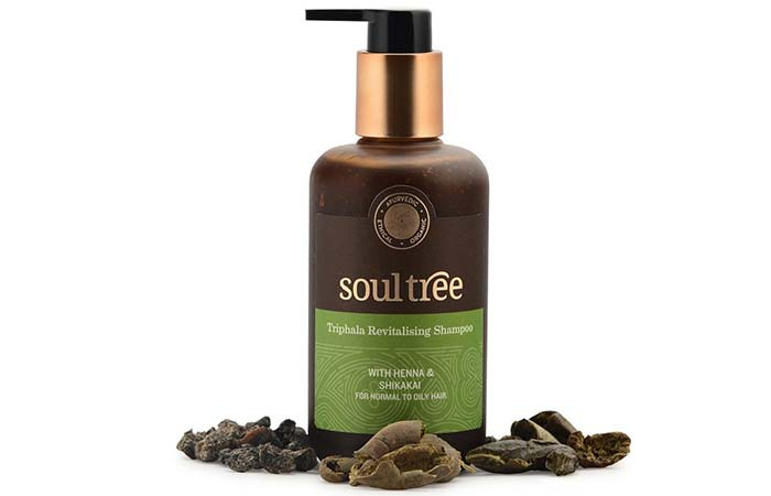 1. Soultree Triphala Revitalizing Shampoo With Henna And Shikakai
