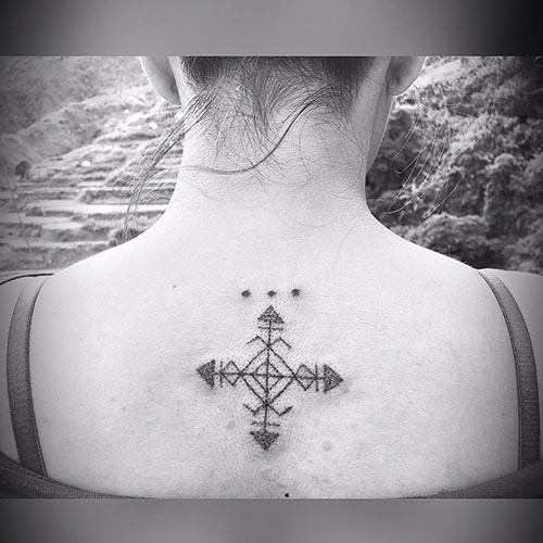 Pretty Back Of Neck Tattoos