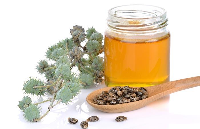 2. Castor Oil For Lip Pimples