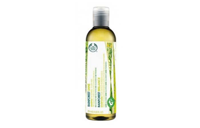 2. The Body Shop Rainforest Shine Shampoo