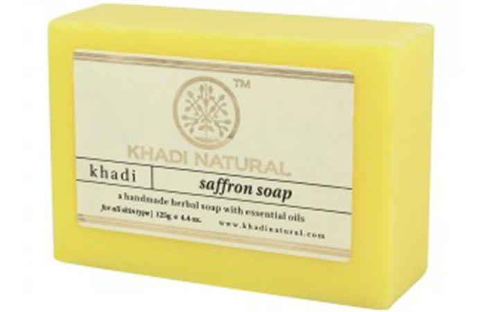 2.Khadi Natural Saffron Soap
