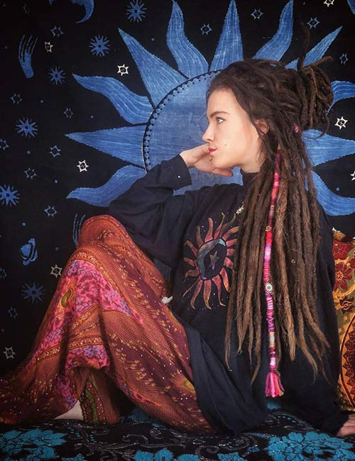 22. Dreadlocks Half Bun