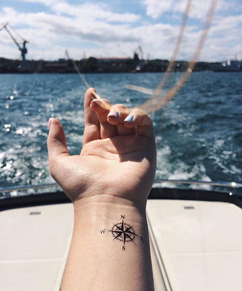 Wrist Compass Tattoo