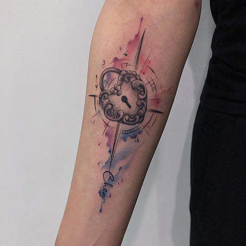 Heart Compass Tattoo