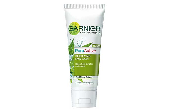 4. Garnier Skin Naturals Pure Active Neem Face Wash