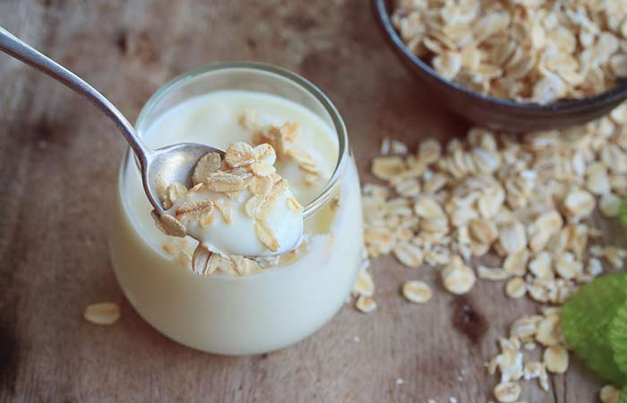 Get Rid Of Pimples Behind Ears - Yogurt And Oatmeal