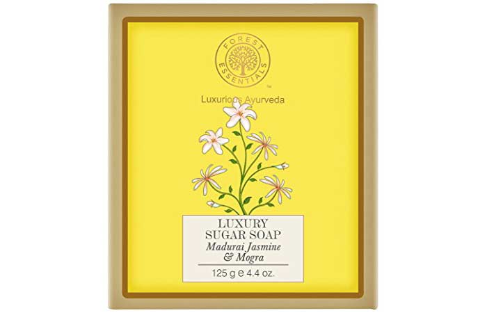 Best Soaps For Sensitive Skin - Forest Essentials Jasmine And Mogra Sugar Soap