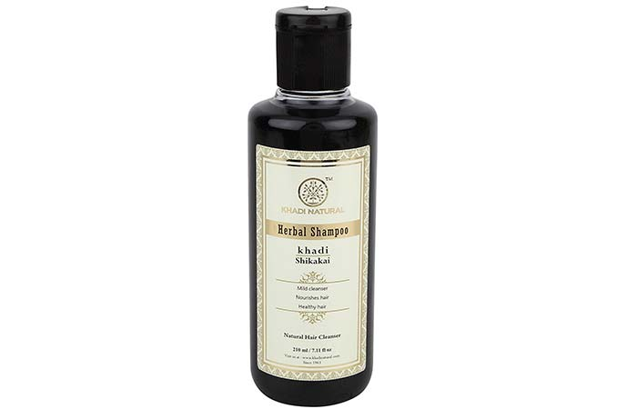 5. Khadi Natural Herbal Shikakai Shampoo