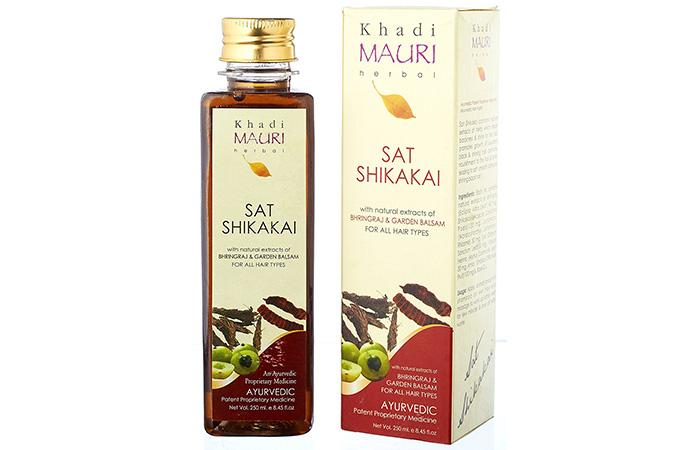 6. Khadi Mauri Herbal Sat Shikakai Shampoo