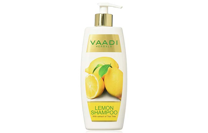6. Vaadi Herbals Dandruff Defense Lemon Shampoo With Extract Of Tea Tree