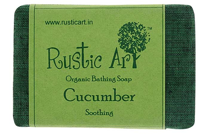 6.Rustic Art Organic Cucumber Soap