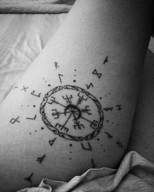 Best Compass Mandala Tattoo Ideas