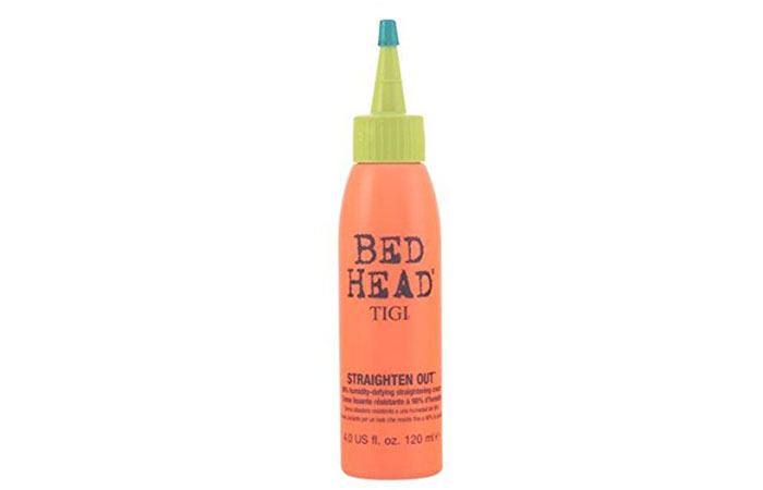 9. Tigi Bed Head Straighten Out Straightening Cream