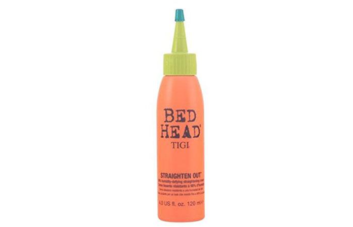 9. Tigi Bed Head Straighten Out Straightening Cream