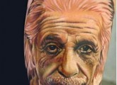 Albert Einstein Portrait Tattoo