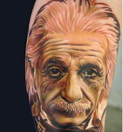 Albert Einstein Portrait Tattoo