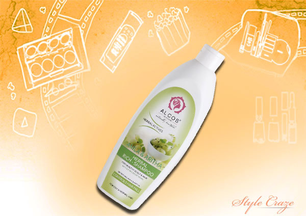 alcos shikakai amla herbal rich shampoo