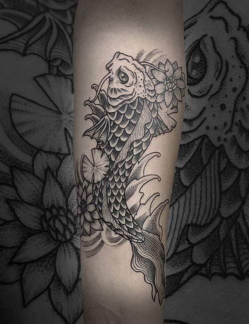 Angry Koi Fish Tattoo