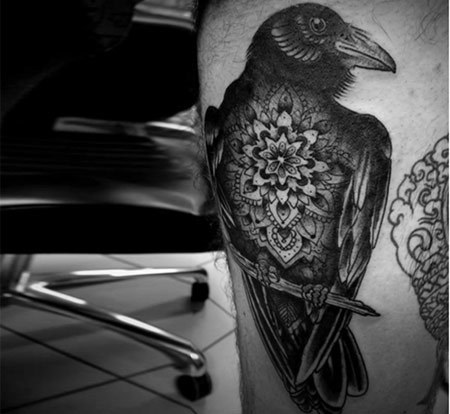Angry Raven Tattoo