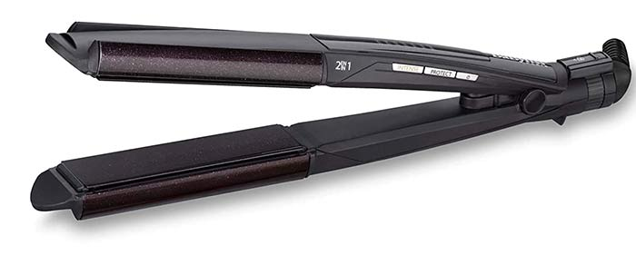 BaByliss ST330E 2-In-1 Wet And Dry Hair Curl And Straightener