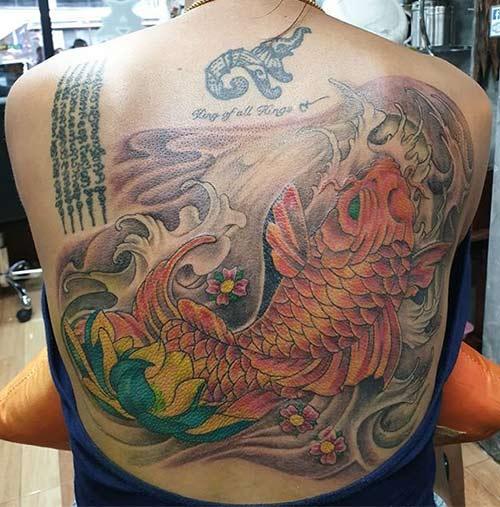 Back Koi Tattoo