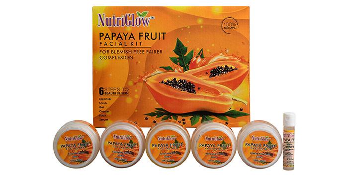 Best Chemical-Free Formula NutriGlow Papaya Fruit Facial Kit