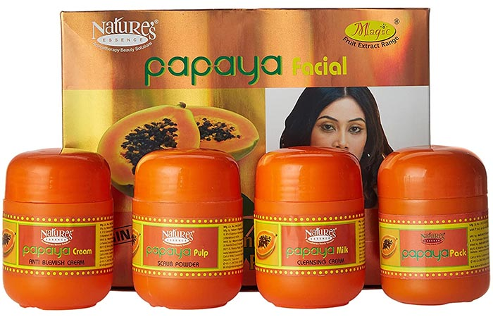 Best For Hyperpigmentation Nature's Essence Papaya Facial Kit