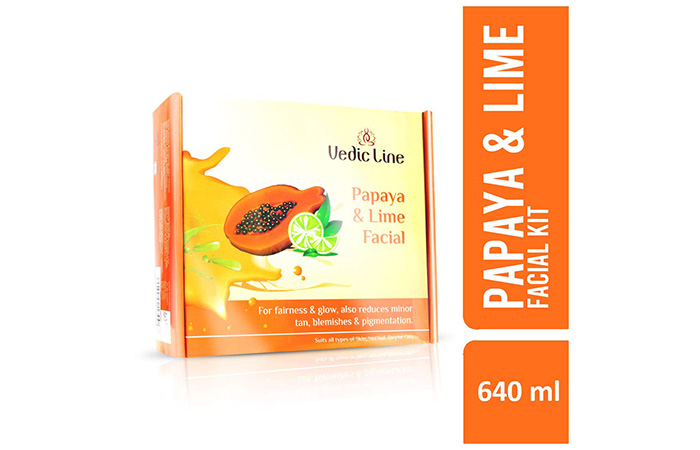 Best For Tan Removal Vedic Line Papaya & Lime Facial Kit