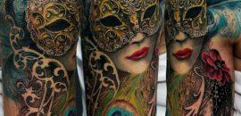 15 Best Mask Tattoo Designs