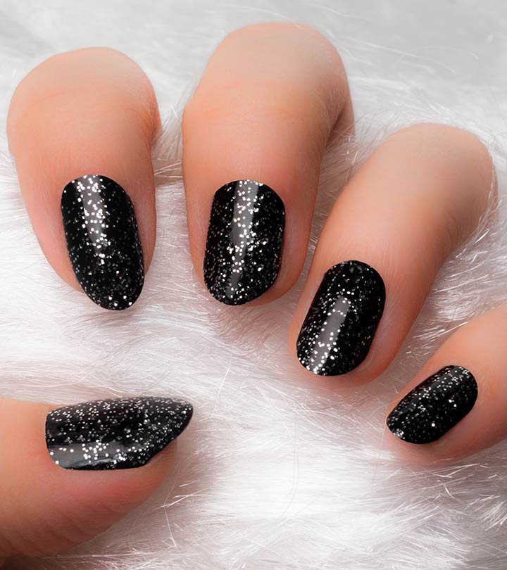 Black-And-Silver-Nail-Art-–-Step-By- - Black And Silver Nail Art - Step By Step Tutorial With Pictures