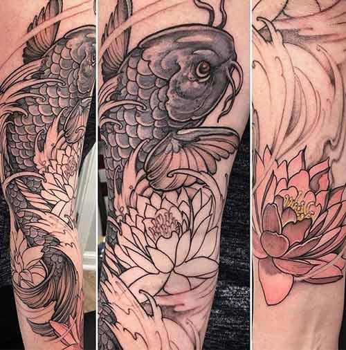 Black Koi Tattoo
