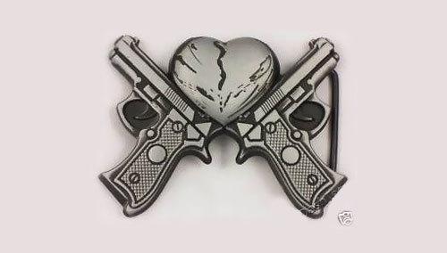 Broken Heart and Gun Tattoo