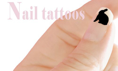 bunny nail tattoo