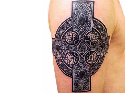 Celtic Cross Irish Tattoo