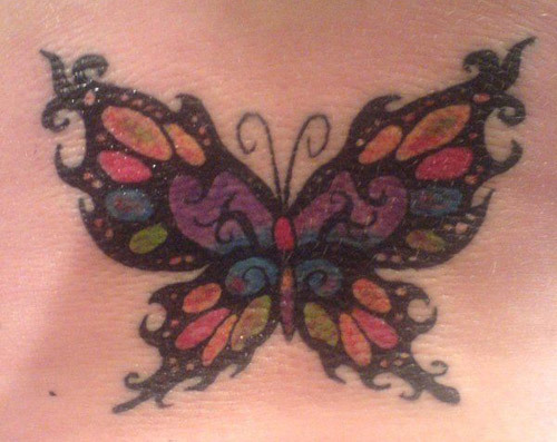 Celtic Irish Butterfly Tattoo