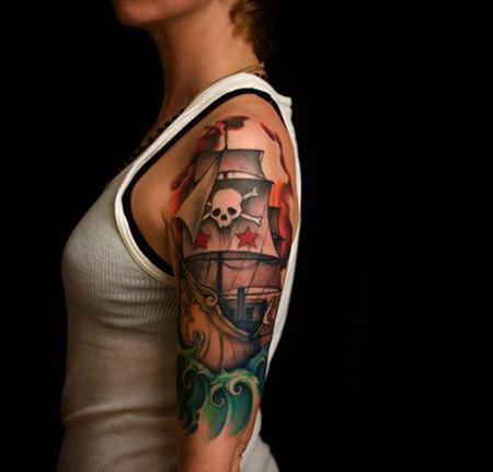 Colorful Pirate Tattoo