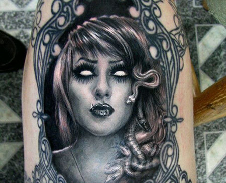 Contemporary Medusa Tattoo