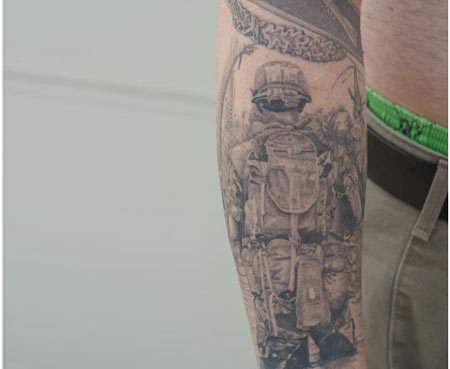 Courageous military tattoo