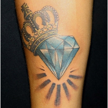 Crown Jewel Diamond Tattoo