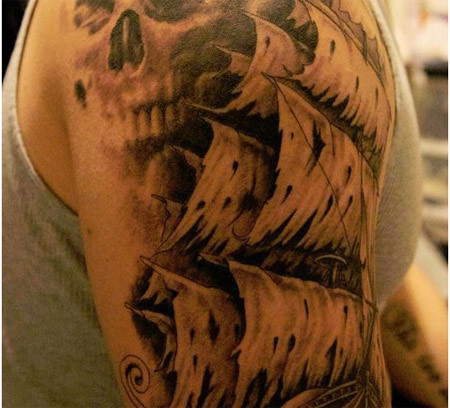 Davy Jones Pirate Tattoo