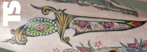 Decorated Dagger Tattoo