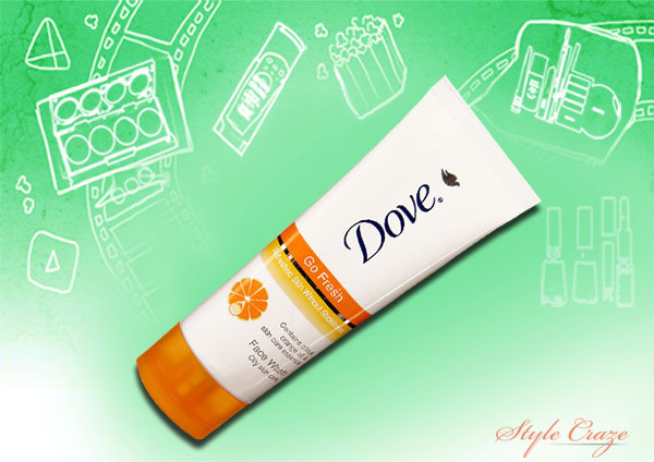 dove go fresh citrus face wash