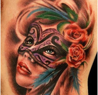 Dreaming mask tattoo