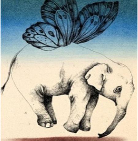 Elephant and Butterfly Amalgamation