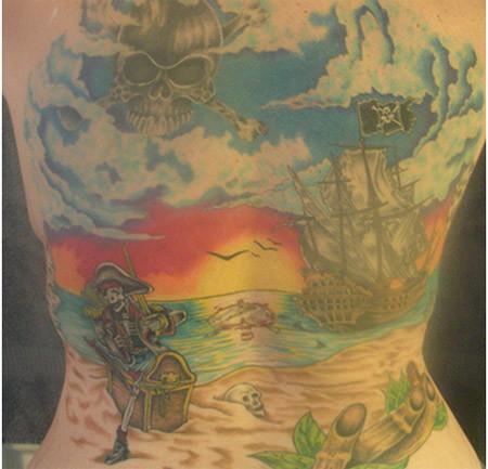 Full Back Pirate Tattoo