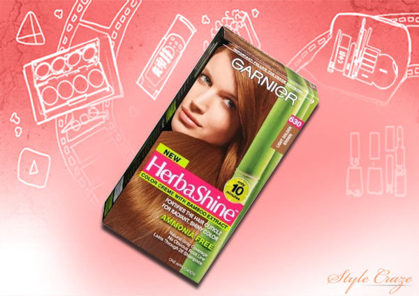 garnier herbashine color creme with bamboo extract, light golden brown 630